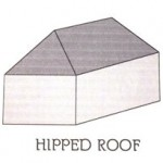 Hip, hipped, or hip-roof